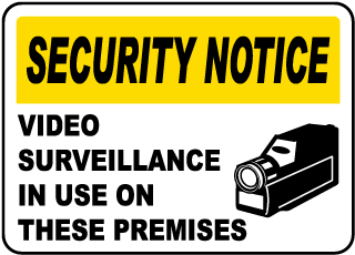 Security Notice - Video Surveillance In Use On These Premises Sign